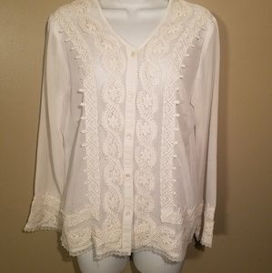 Country Door sheer blouse size M